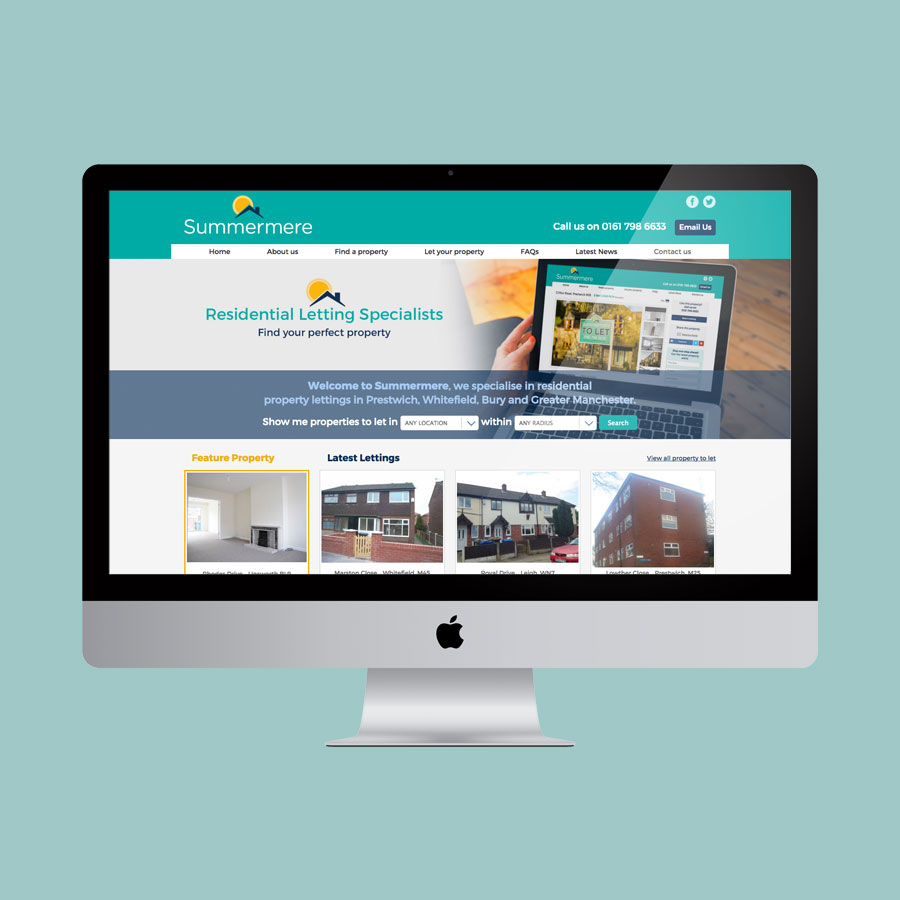 Responsive CMS website Summermere